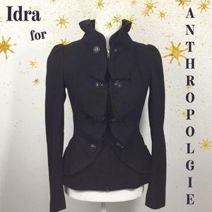 Anthropologie | Idra Steampunk Ruffle Wool Jacket